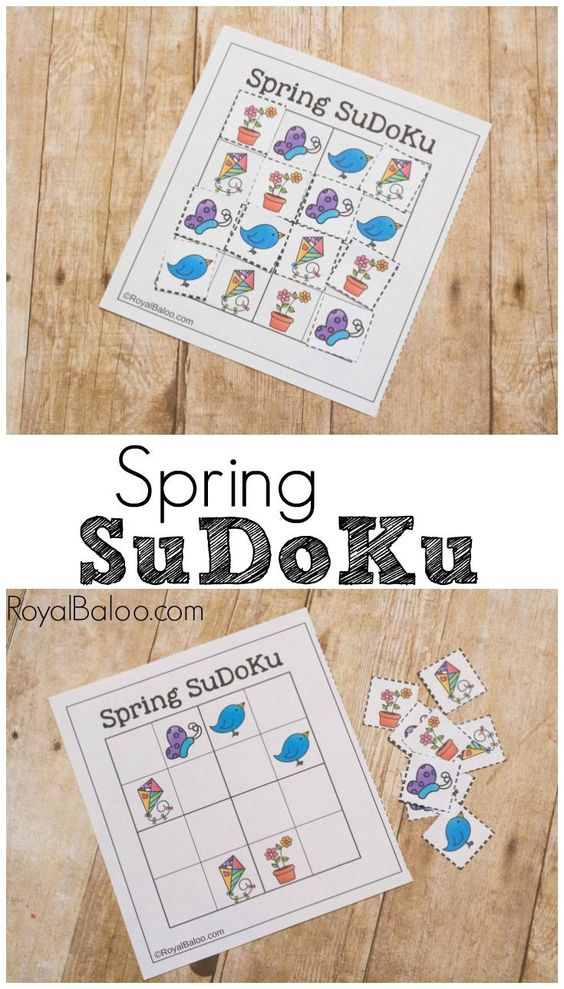 Spring SuDoKu Game free printable