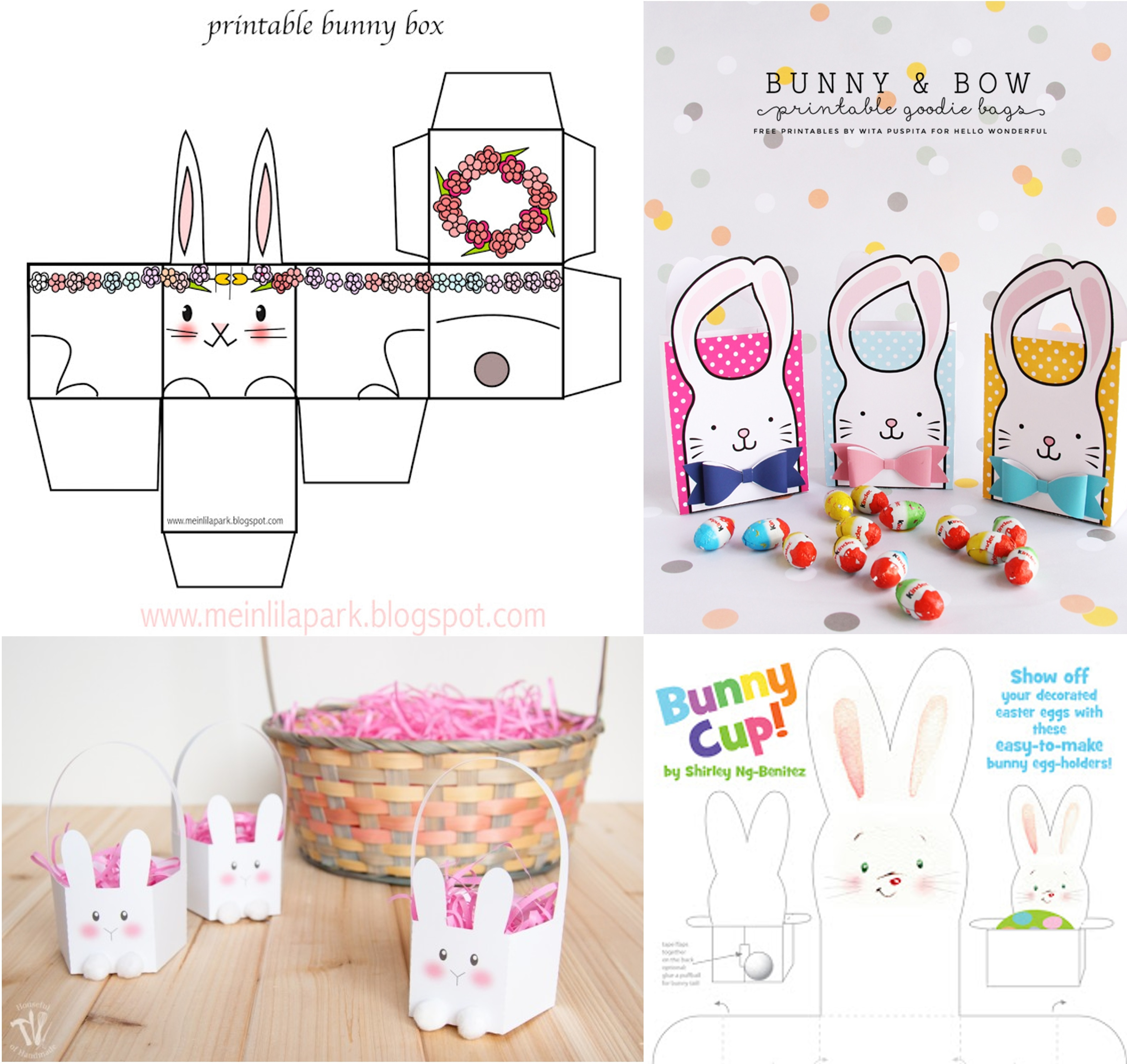 Lively image within printable easter basket
