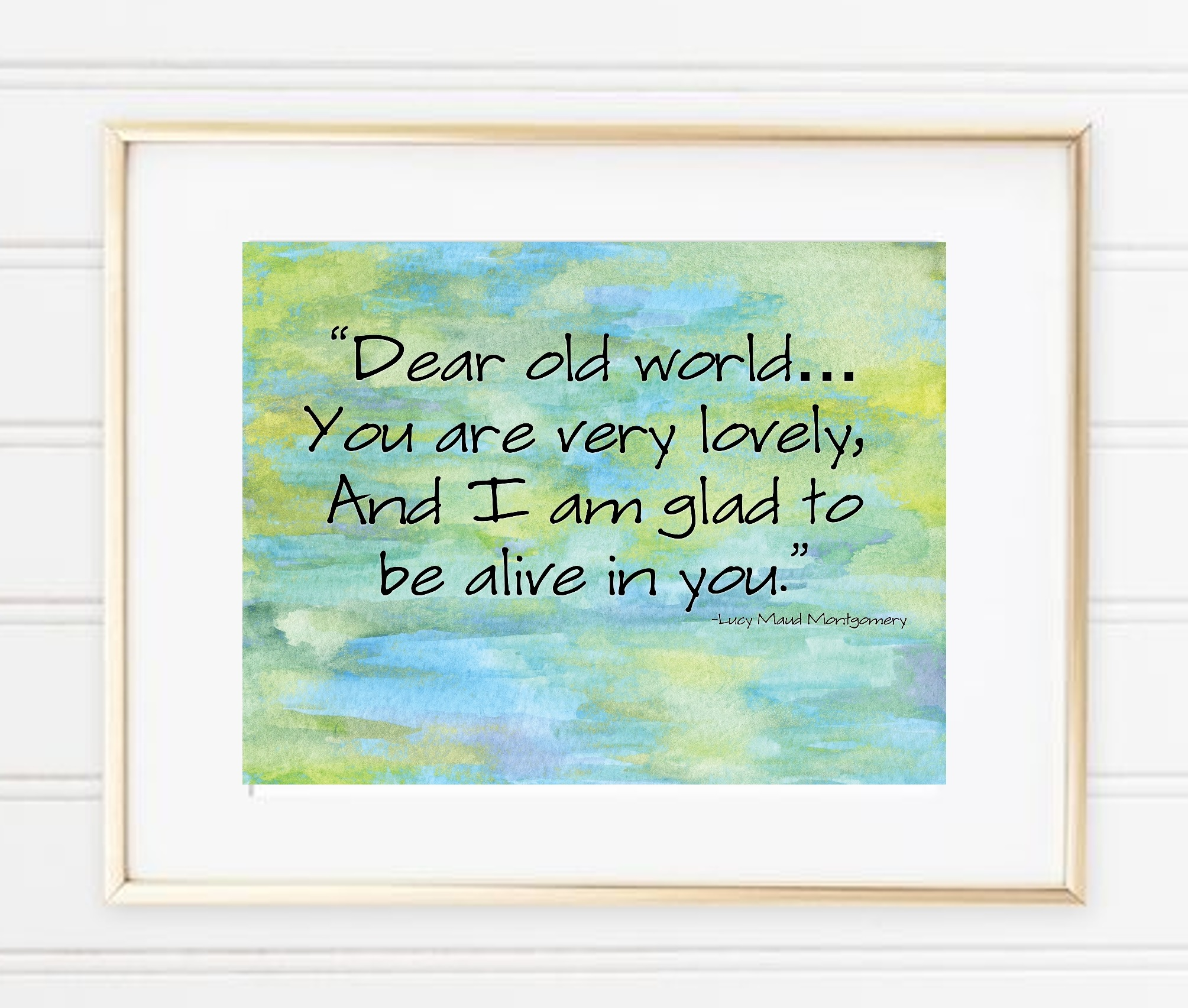 Earth Day Quote Art Print