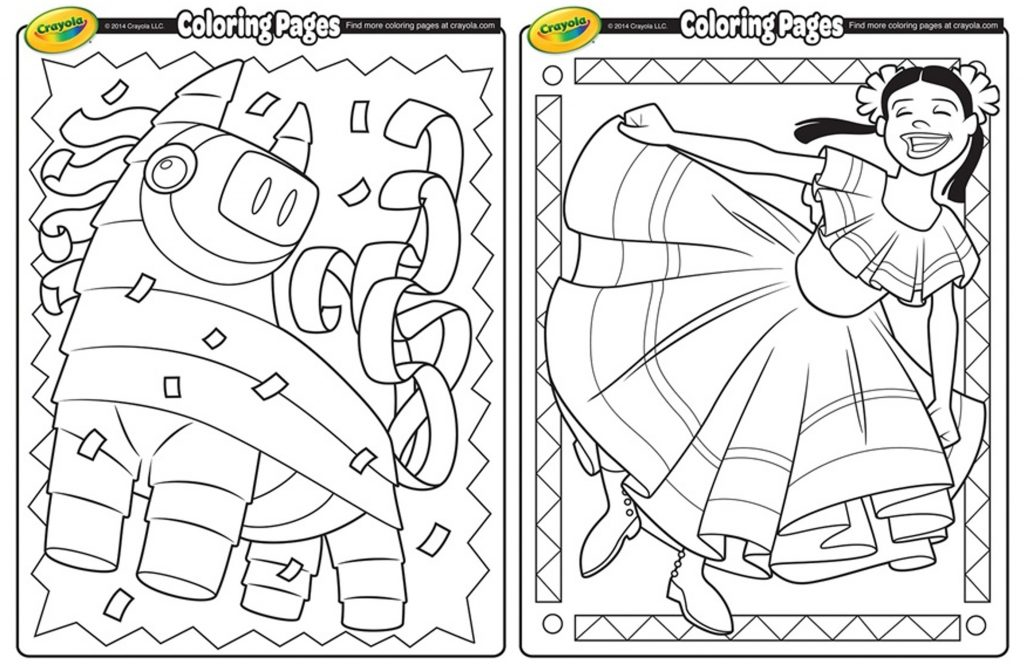 Nerdy image throughout cinco de mayo coloring pages printable