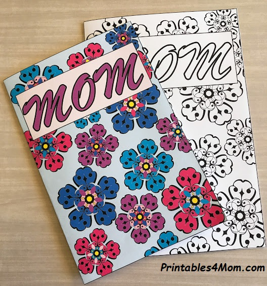 Mother's Day Coloring Page Card DIY