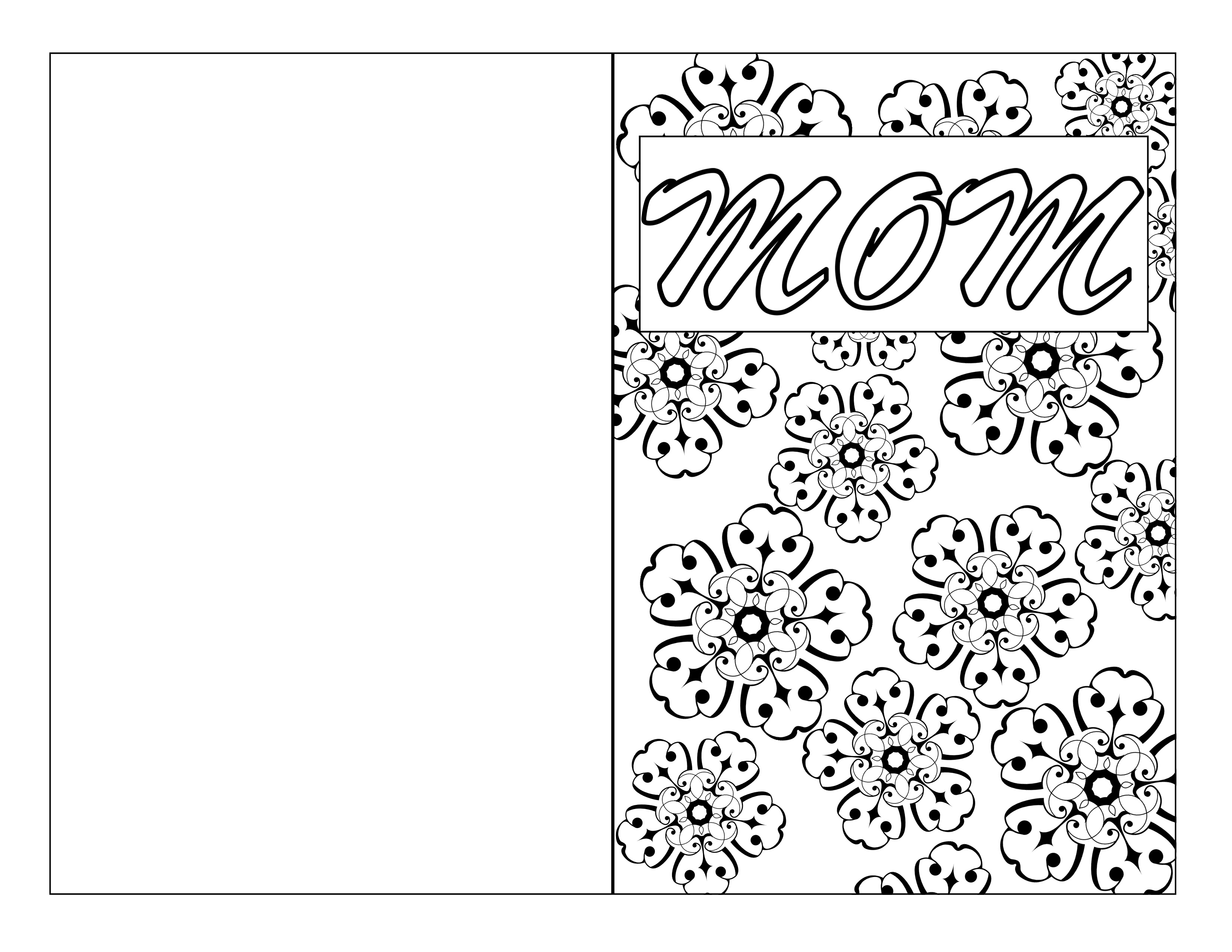 Mother's Day Coloring Page Card DIY - Printables 4 Mom
