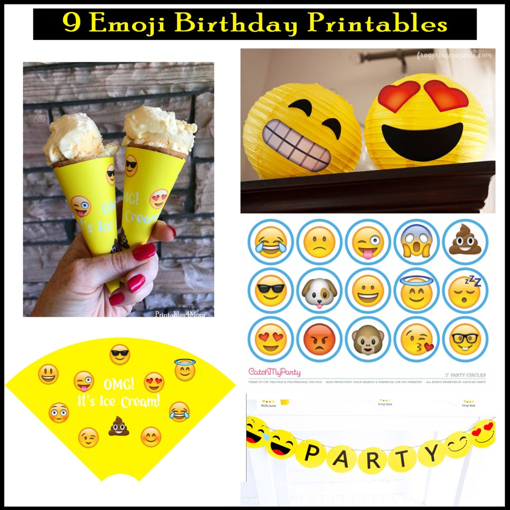 graphic regarding Printable Emoji Invitations titled No cost Custom made Emoji Invites and Birthday Printables