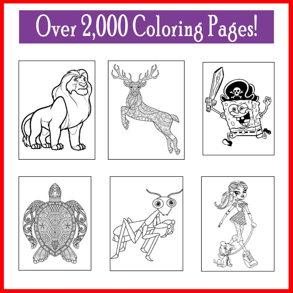 Over 2,000 Free Coloring Pages dora spongebob dinosaurs frozen paw patrol