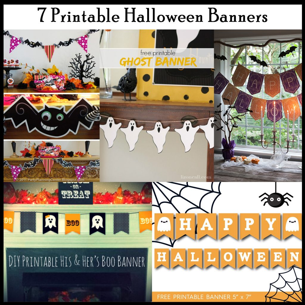 graphic relating to Printable Halloween Banners named 7 Printable Halloween Banners - Printables 4 Mother