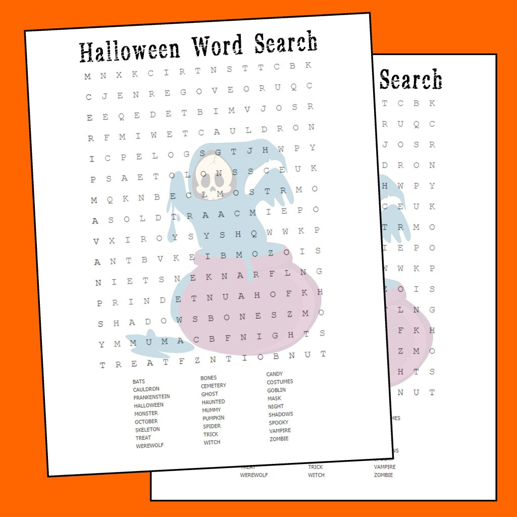 graphic regarding Halloween Word Searches Printable titled Halloween Term Seem Printable - Printables 4 Mother