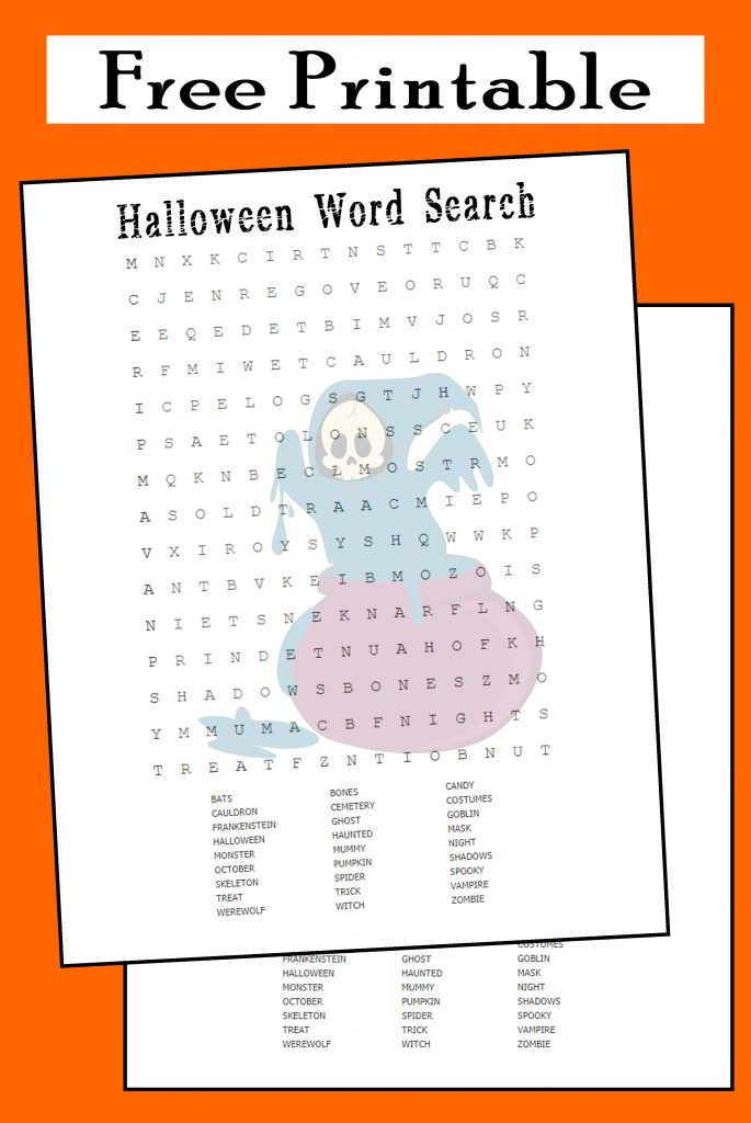 printable halloween word search activity teacher
