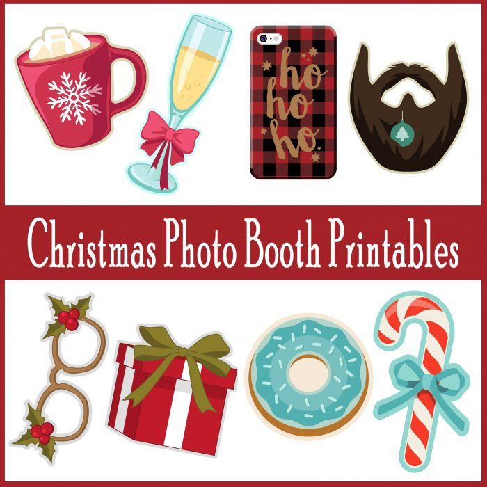 adorable  printable photo booth props for christmas