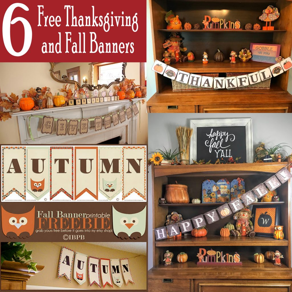 image regarding Printable Thanksgiving Banners known as 6 Totally free Thanksgiving and Drop Banners - Printables 4 Mother