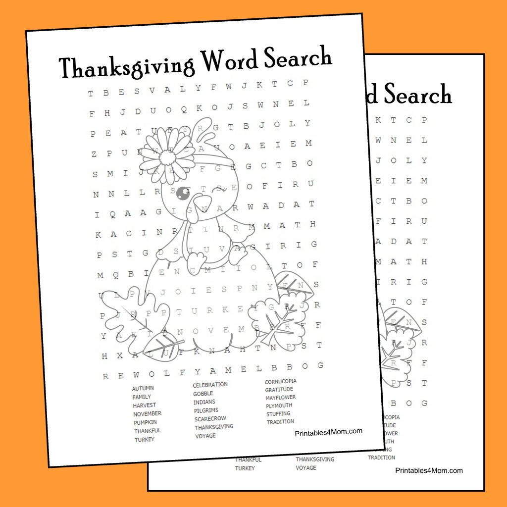 graphic relating to Printable Thanksgiving Word Search named Thanksgiving Phrase Look Printable - Printables 4 Mother