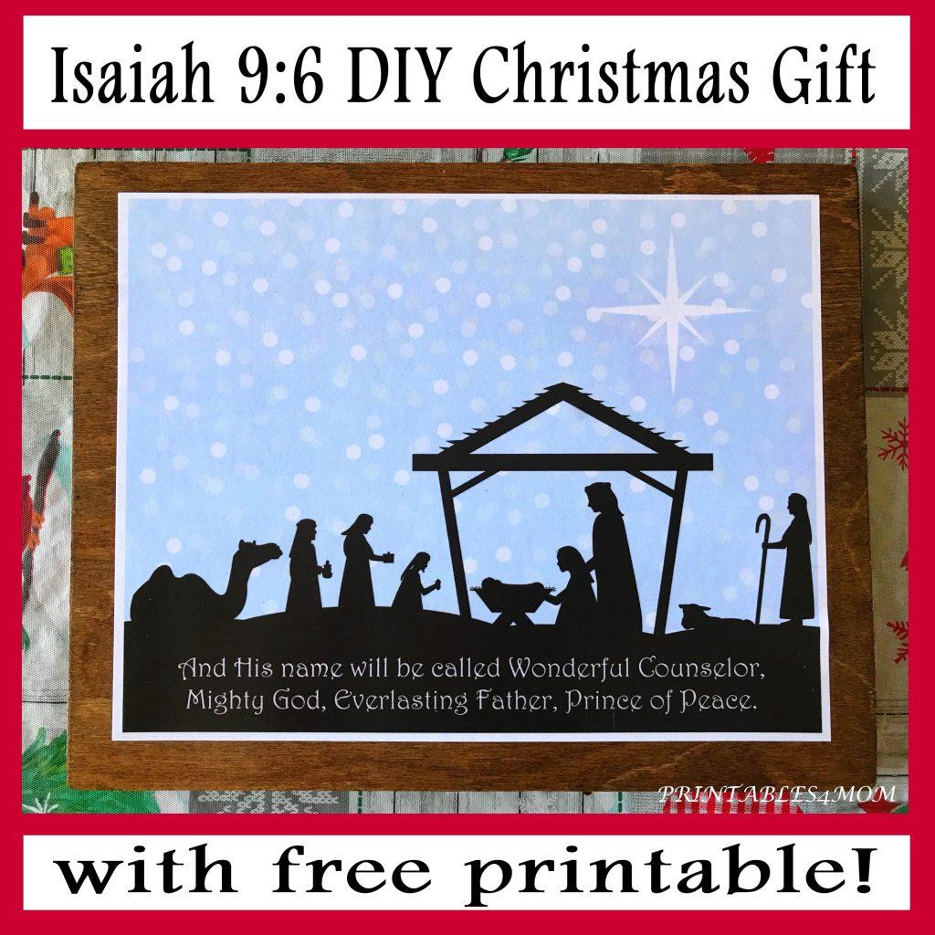 Isaiah 9:6 DIY Christmas Gift