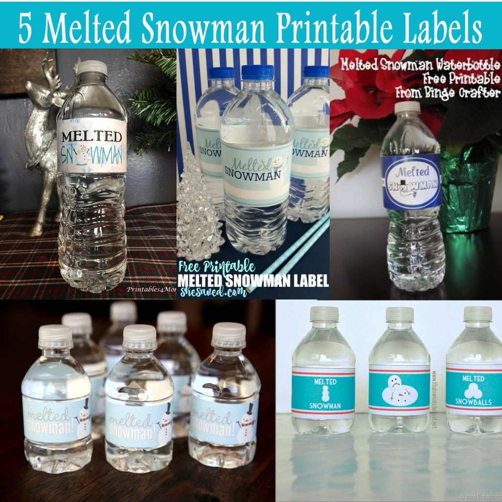 5 Free Melted Snowman Printable Labels