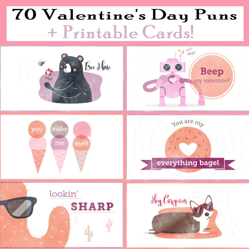 Valentine's Day Pun Cards Free Printables