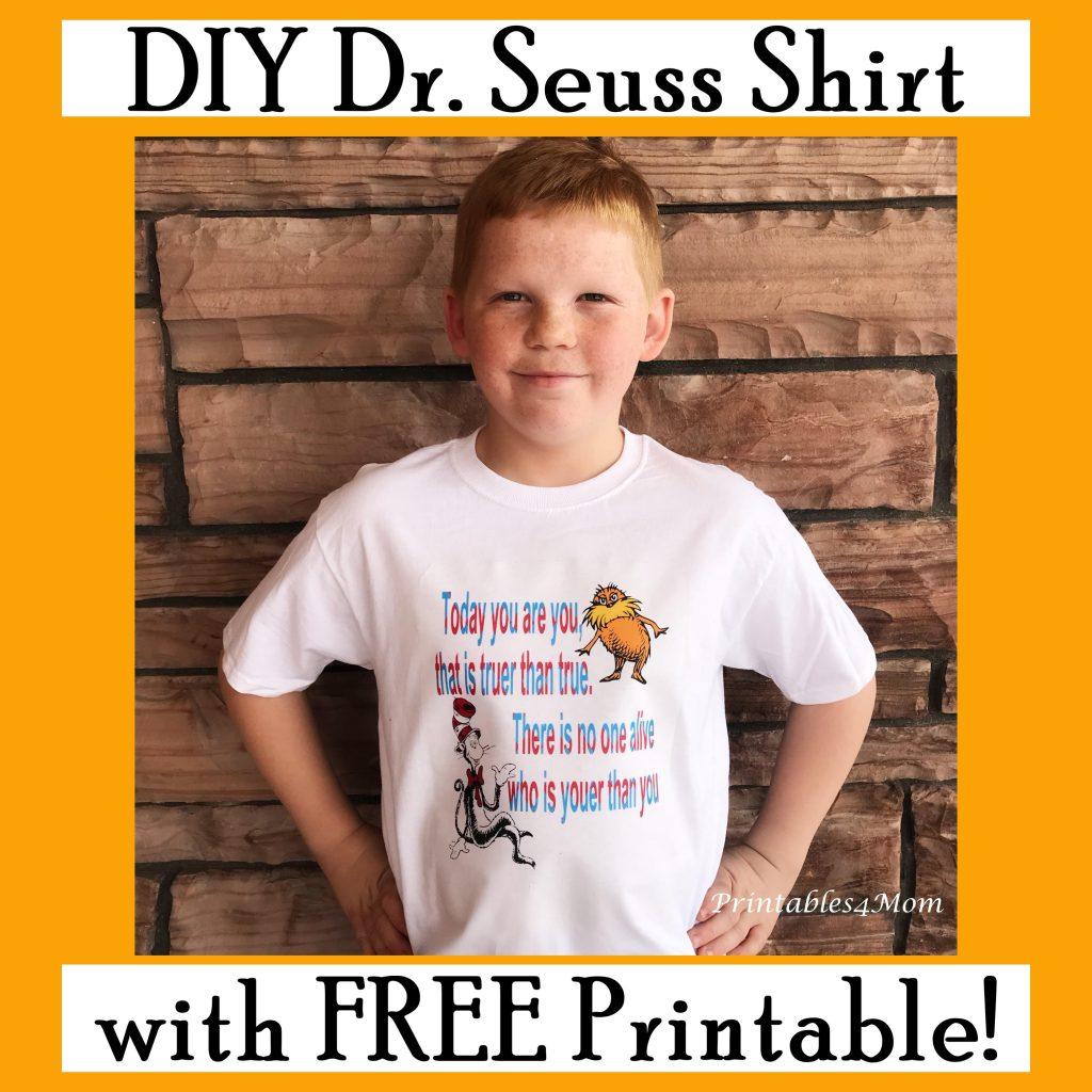 Dr. Seuss DIY Shirt and Art Printable