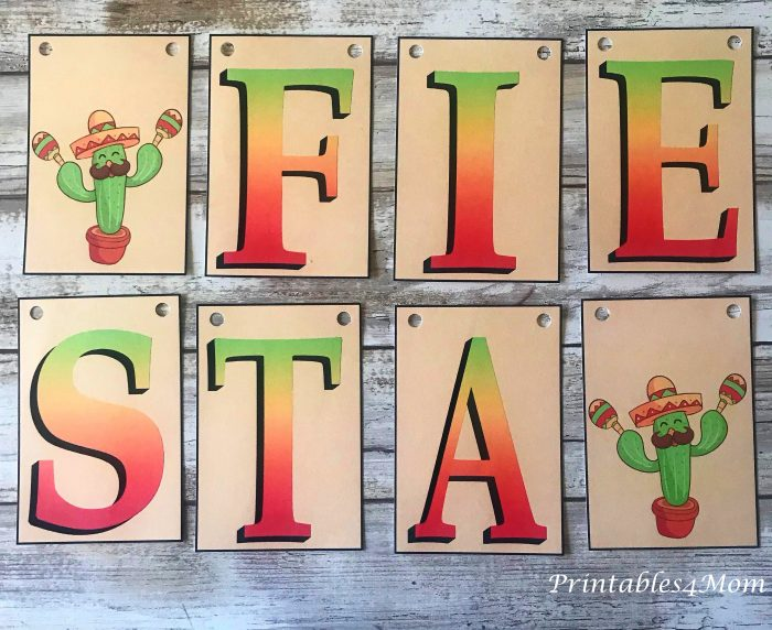 Free Printable Fiesta Cinco de Mayo Banner