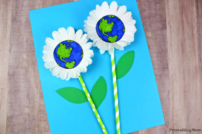 Daisy Earth Day Craft with Printable Templates