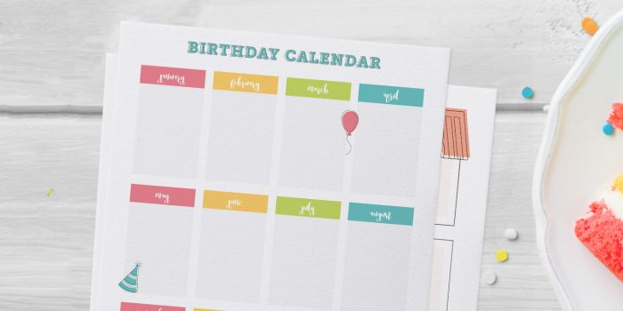 Birthday Calendar Printables Free Templates