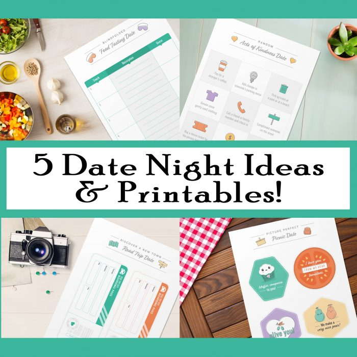 5 Date Night Ideas and Printables Free Printables