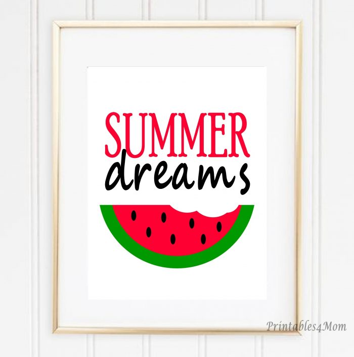 Summer Watermelon Art Print Free Printable
