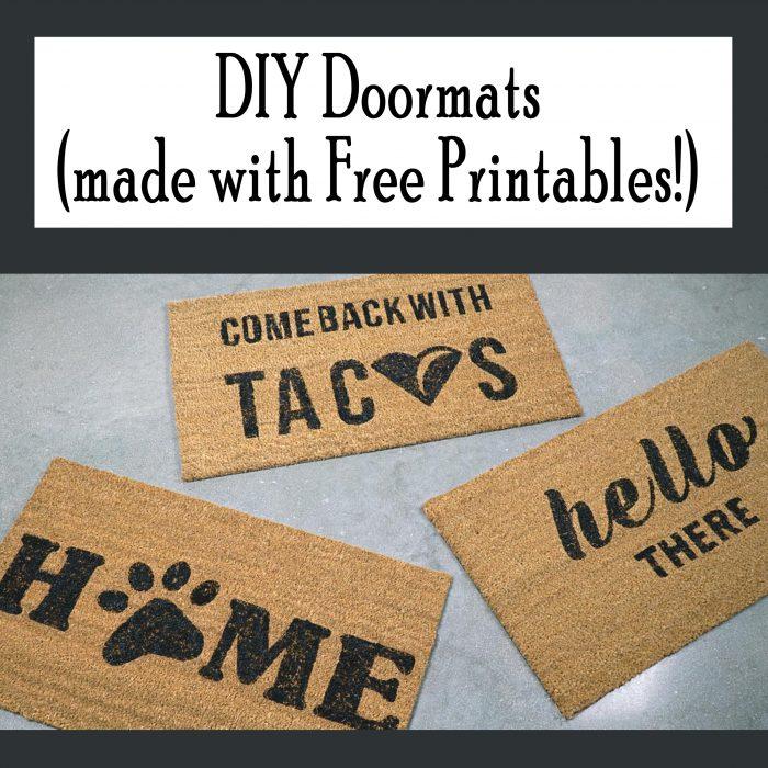 DIY Doormats with Printables Such cute, free printables!