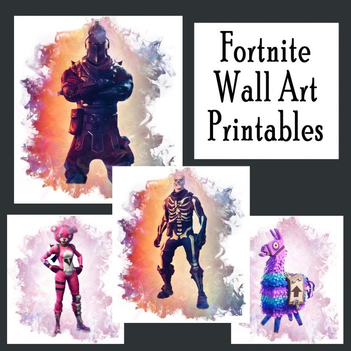 picture regarding Fortnite Printable Images identified as Free of charge Fortnite Printable Posters (Preset of 4!) - Printables 4 Mother