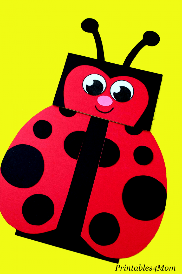 picture relating to Free Printable Paper Bag Puppet Templates identify Ladybug Paper Bag Puppet with Printables - Printables 4 Mother