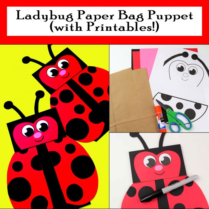 graphic about Printable Paper Bag Puppets identified as Ladybug Paper Bag Puppet with Printables - Printables 4 Mother