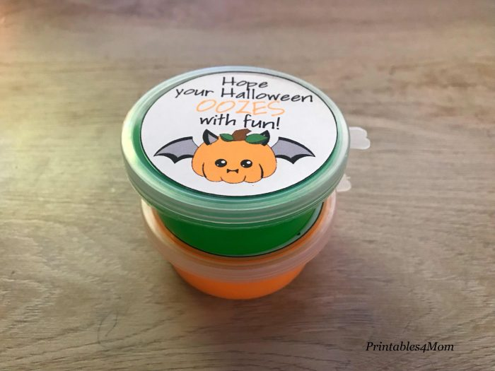 DIY Slime Halloween Favors for kids with printables