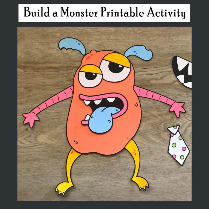 photo relating to Build a Monster Printable named Establish a Monster Printable Recreation - Printables 4 Mother