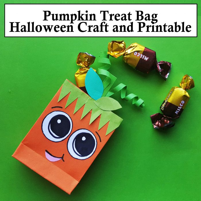Pumpkin Treat Bag Halloween Craft with Printable Template