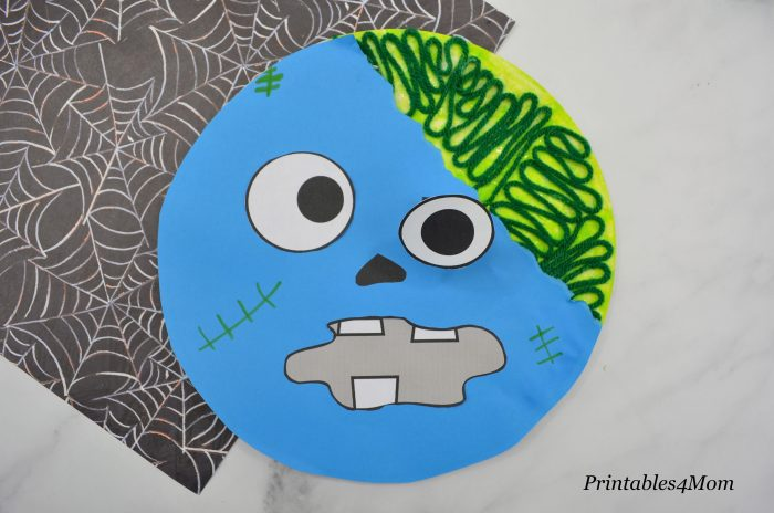 Paper Plate Zombie Craft