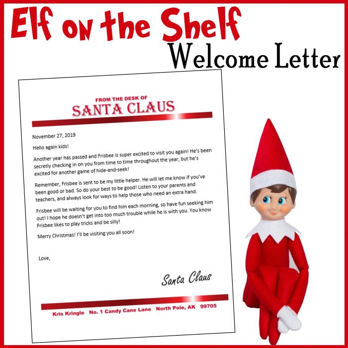 Elf on the Shelf Customizable Welcome Letter Free Printable
