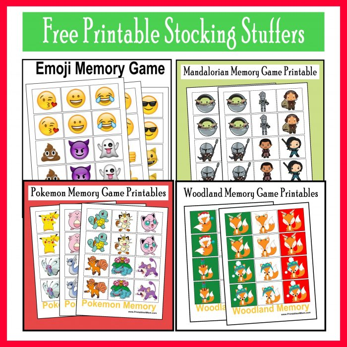 10 Last Minute Printable Stocking Stuffer Games Free Printables, Cheap, Frugal