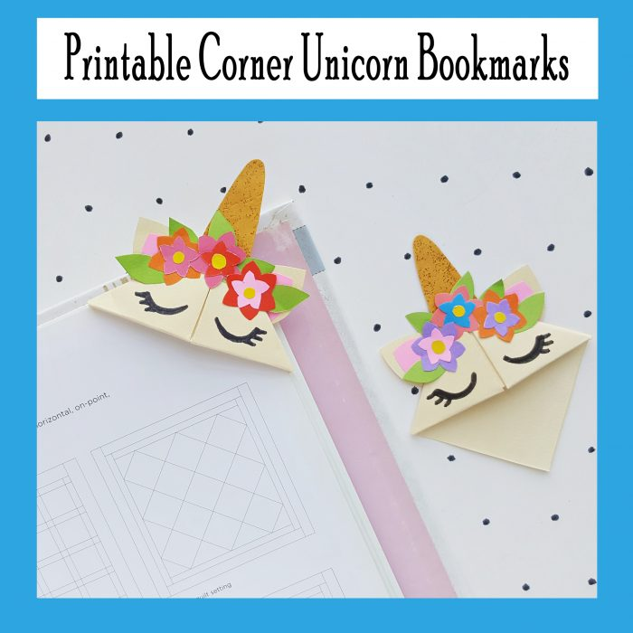 photograph about Corner Bookmarks Printable titled Printable Corner Unicorn Bookmark - Printables 4 Mother