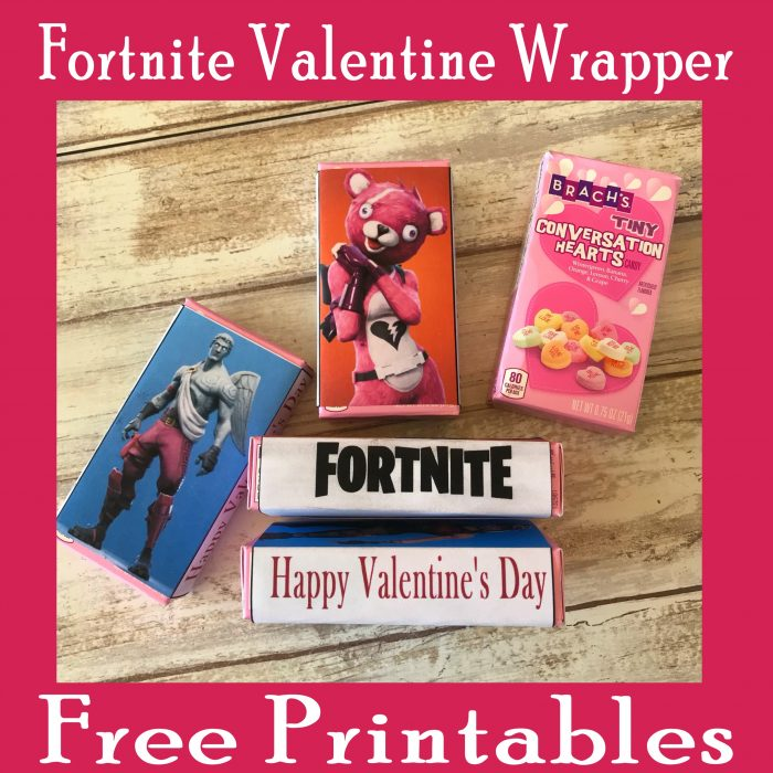 Fortnite Valentine's Day Printable Candy Wrappers Free