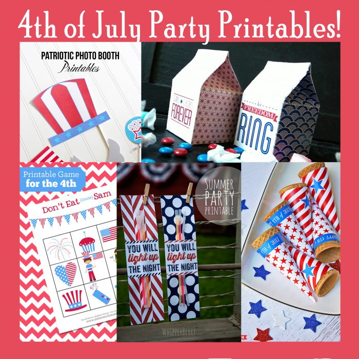 4th of July Party Printables Free