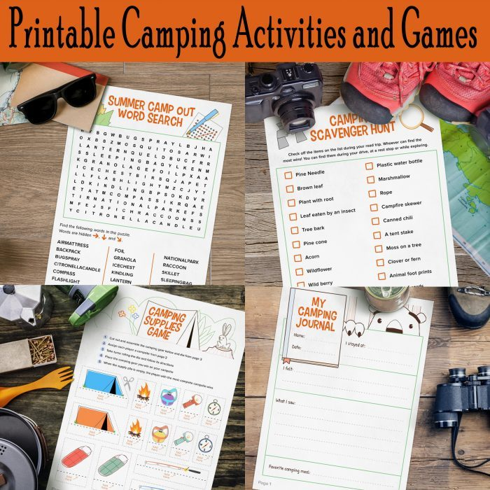 Printable Camping Activities and Games