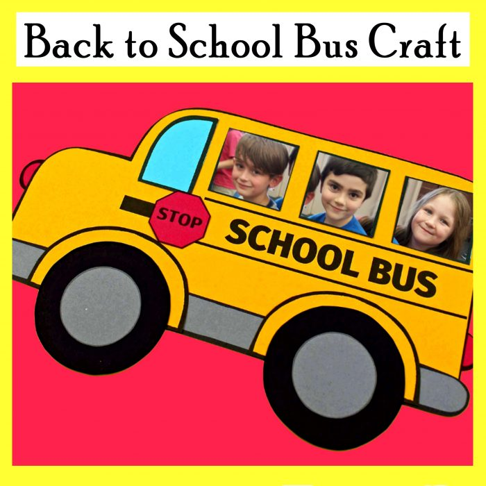 Back to School Free Printable Bus Craft