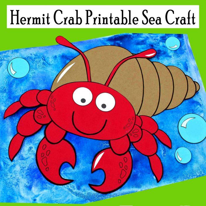 Hermit Crab Printable Sea Craft