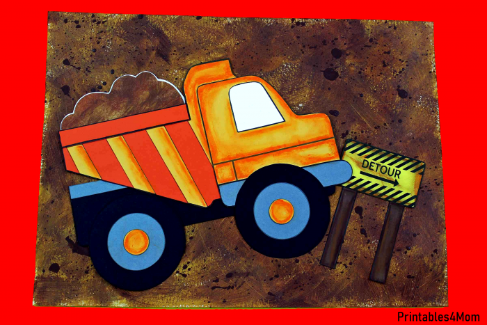 Construction Dump Truck Craft Free Printable