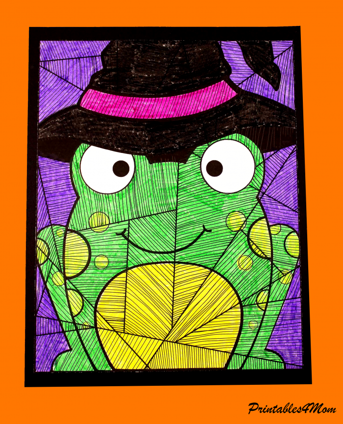 Witch Frog Line Study Free Printable Activity