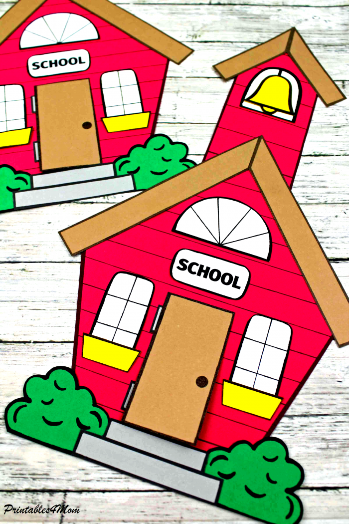Back to School House Printable Craft