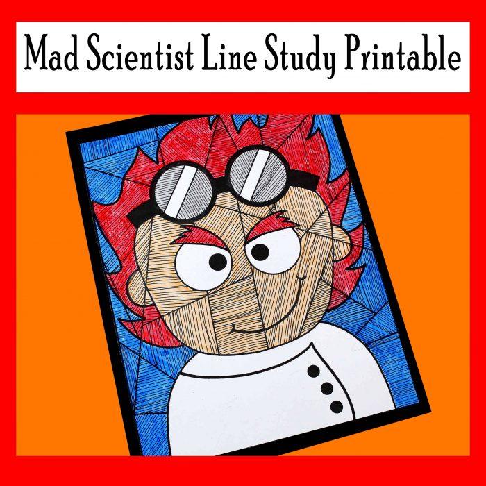 Mad Scientist Line Study Printable Activity