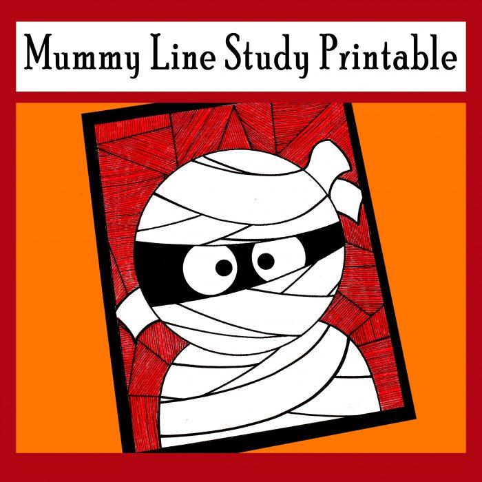 Mummy Line Study Printable Activity