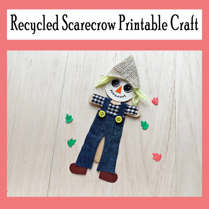 Recycled Scarecrow Craft and Printable