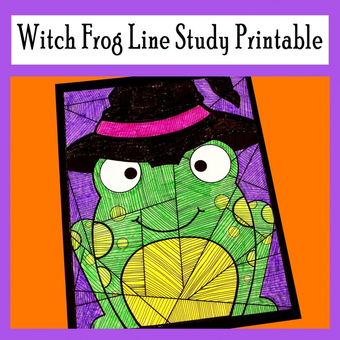 Witch Frog Line Study Printable Activity