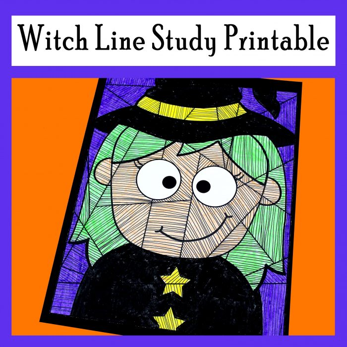 Witch Line Study Printable Activity