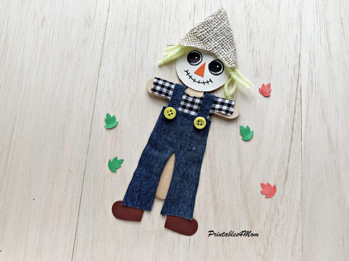 Recycled Scarecrow Free Printable Craft