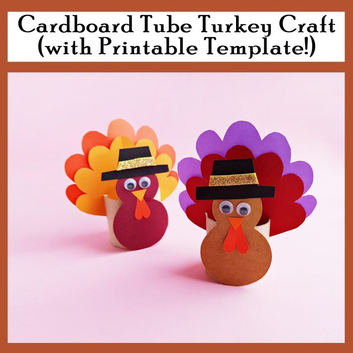 Cardboard Tube Turkey Craft Free Printable