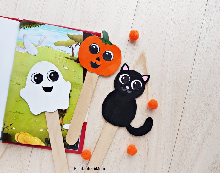 Cute Halloween Character Bookmarks Free Printable Craft